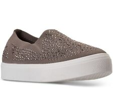 Skechers Women's Poppy Studded Affair Slip-On Sneakers 7.5 Taupe Studded Affair
