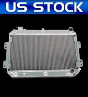 "1970 71 72 1973 Datsun 240Z Conversion 3 Row SR Radiator w 2 12/"" Fans"