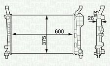 MAGNETI MARELLI BM1262 Radiator, engine cooling Mercedes-Benz A-CLASS B-CLASS