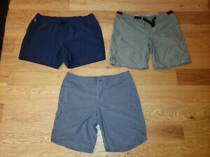 LOT OF 3 PATAGONIA Mountain Hardwear Columbia Hiking Outdoor Shorts Size 16 XL