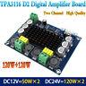 2*100W Dual-channel Stereo High Power Digital Audio Amplifier Board DC12-26V