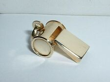 14K YELLOW GOLD 3D WHISTLE PENDANT CHARM GREAT SOUND