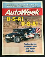 AUTO WEEK Magazine - Feb 1996 -HUMMERS / HUMVEES at the Dakar Rally