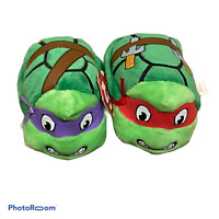 🍊Teenage Mutant Ninja Turtle Teeny Ty Mini Plush Lot Set Of 2 Red Purple EUC G1