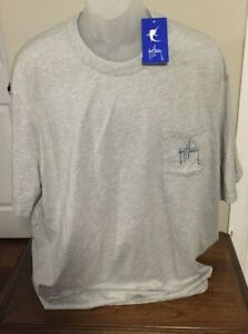 Guy Harvey Sport Gray Heather Graphic Print T Shirt Size XXXL NWT
