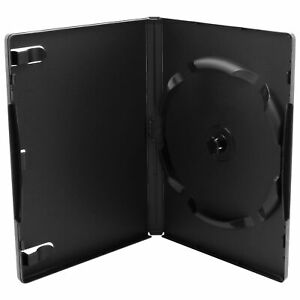 50 x 6 Fach DVD Hüllen für 1 - 6 CD DVD Blu-Ray 6er Leerhüllen 14mm | Schwarz