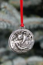Hastings Pewter Lead Free Pewter Cat Ornament cat & lizard NEW gift Made in USA
