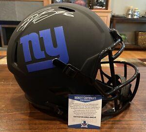 Saquon Barkley Autographed New York Giants Full Size Eclipse Helmet Beckett #2