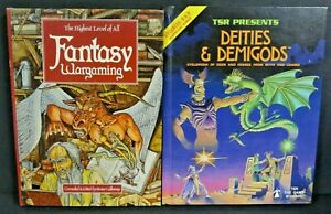 Advanced Dungeons and Dragons DEITIES & DEMIGODS 1980 Fantasy Wargaming 1981 LOT