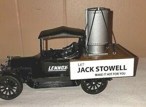Lennox 1920 Studebaker Pickup Stove Coin Bank W/Key Jack Stowell NEW