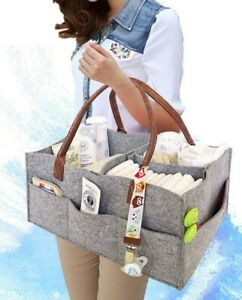 Diaper Bag Organizer/Caddy. Nursery Tote Makes a Great Baby Shower Gift (Gray)