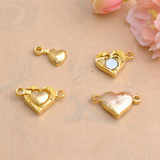 10Sets Silver Golden Two Parts Powerful Magnetic  Heart Clasps Jewelry Findings