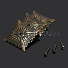 Retro Decorative Bronze Square Upholstery Nails Chair Tacks Studs Vintage 100Pcs
