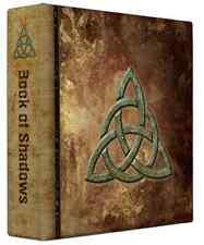 """Triquetra Book of Shadows 3 Ring Binder Grunge Design 10"""" x 11.75"""" x 2.8""""spine"""