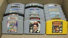 ✅ Nintendo 64 N64 Video Games Lot Super Mario Pokemon Snap Donkey Kong DK 007