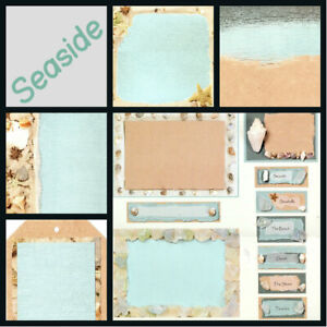 QUICK & EASY Scrapbook CARDSTOCK & DIE CUT KITS FROM CLOUD 9 BEACH FALL TRAVEL