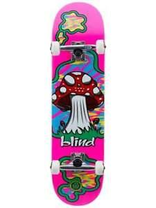"""BLIND SHROOM LAND COMPLETE 8.125"""" X 31.2"""" Skateboard Complete PINK"""