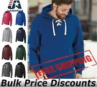 J America Mens Blank Sport Lace Hooded Sweatshirt 8830 up to 3XL