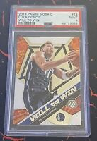 2019 Panini Mosaic Will To Win Luka Doncic PSA 9 Mavericks