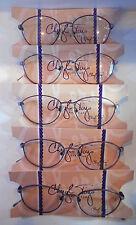 Vintage 5 pc. Cheryl Tiegs CT-133 Multi Purple 51/17 Eyeglass Frame Lot NOS