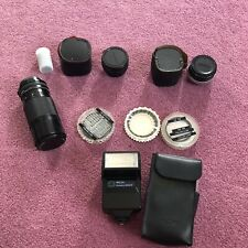 Lot of Miscellaneous Film Camera Accessories Canon Lens