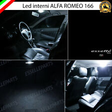 KIT LED INTERNI ALFA ROMEO 166 ANTERIORE POSTERIORE BAGAGLIAIO 6000K CANBUS
