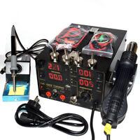 4in1 909D+ Heat Hot Air Gun 220V 800W Rework Station Soldering iron Power Supply