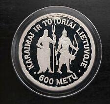 LITHUANIA  RARE PROOF SILVER COIN 50 LITU 1997 YEAR KM#105 600th KARAIMS TATARS