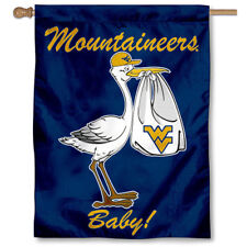 West Virginia University New Baby Born Decorative House Flag