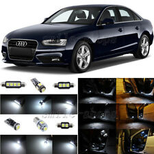 14pcs Xenon White LED Interior Light Package Fit For 2009-2013 Audi A4 S4 B8