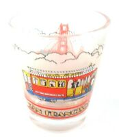 SAN FRANCISCO Cable Car Golden Gate Shot Glass Souvenir Barware Collectible