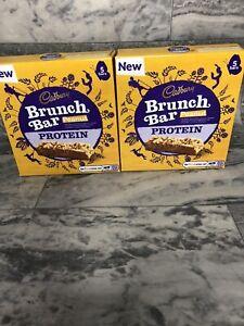Cadburys Peanut Protein Cereal Brunch Bars 5 Bars - 2 Boxes - BNIB