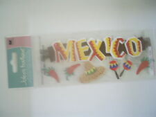 JOLEES BOUTIQUE MEXICO WORD TRAVEL SCRAPBOOKING STICKERS