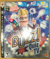 Buzz Quiz TV ( PlayStation 3,(bundle) game & 4- buzzers still new (open box) ps3