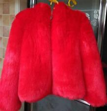 Womens Short Coat Thicken Hooded Faux Fur Solid Thicken Jacket Outwear A684