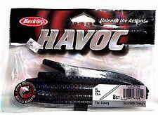 "Berkley HAVOC 5"" Black Small Blue Flat Dawg 8 Count Pack"