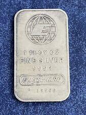 engelhard 1 troy oz silver bar 999 A647
