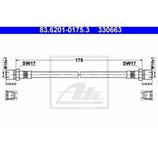 ATE Original Bremsschlauch, Bremsleitung Porsche 83.6201-0175.3