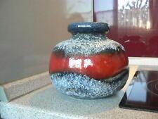 """B.) 70er Jahre fat lava Ball Keramik Vase """" Scheurich """" höhe : 15 cm"""