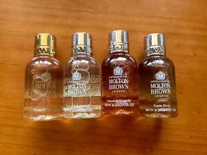 MOLTON BROWN BATH & SHOWER GEL 50ml x 4 UNITS
