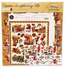 Punch Studio Creative Scrapbook Kit Lot Here Comes Santa Christmas 56005
