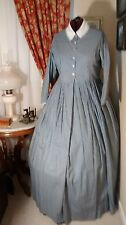 Civil War Reenactment Day Dress Size 24 Blue Chain Link