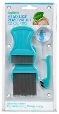 QuitNits Head Lice Removal Kit -2 combs with s/s teeth 5x magnifier Remove Nits!