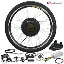 Voilamart 1000W Electric Bicycle Conversion Kit Rear Wheel EBike LCD Meter 26""