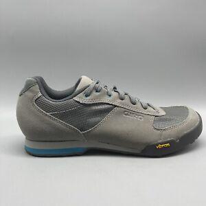 Women's Giro Petra VR Cycling Athletic Shoes Gray Blue US Size 8.5 (EU 40)