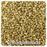 100g GOLD METALLIC glass seed beads - choose size 6/0, 8/0 or 11/0 (4, 3 or 2mm)