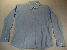 Womens Dress Shirt 10 Collard Blue Cuff Button Down Cotton Career Light Weight