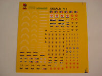 DECALS KIT 1/43 FERRARI,,ALFA ROMEO SHELL, CHAMPION, FERODO DECAL ultimi pezzi
