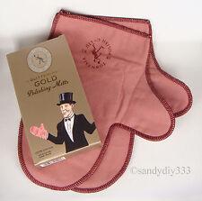 1 pair (1 box) x TOWN TALK GOLD Jewellery Polishing Cloth Gloves Mitts