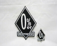 0%er No Club Independent  Diamond Bar 2 pc Patch and Pin Combo